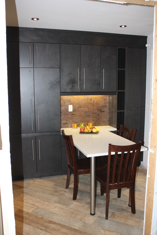 Euro style kitchen in barrie ontario flat pannel doors for Kitchen cabinets barrie