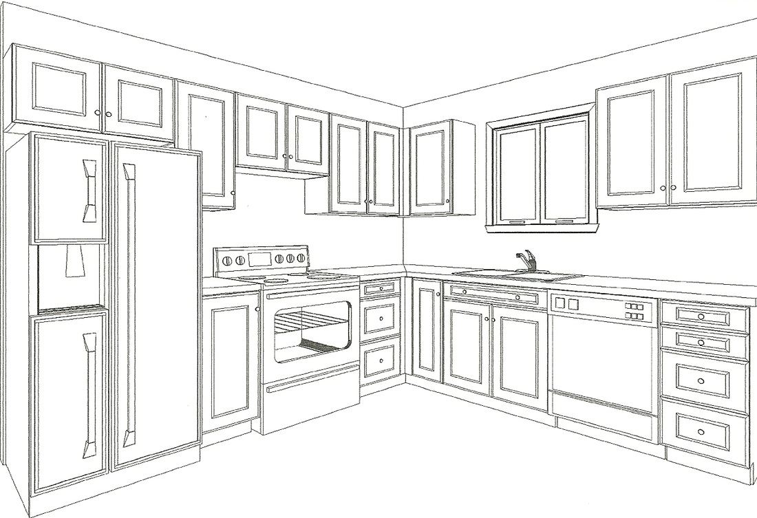 Plan Your Kitchen With Drawings From Canadiana Kitchens Custom Kitchens And Bathrooms